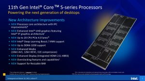 Intel Rocket Lake core i5 core i7 core i9