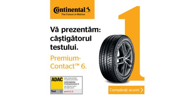 Anvelopele de vară Continental Premium Contact 6 obțin rezultate de top la testul ADAC 2021